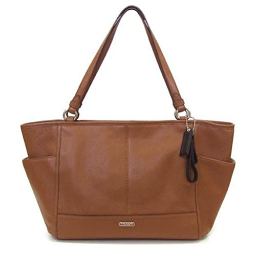 Coach Park Saddle Brown Leather Carrie Tote