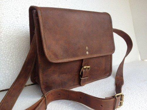Komal's Passion Leather 10 Inch Ipadmini Leather Messenger Satchel Bag