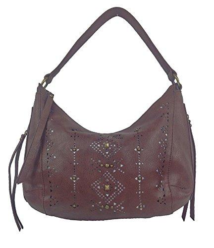 Lucky Brand Newport Perforated Hobo Bag, Mocha Brown