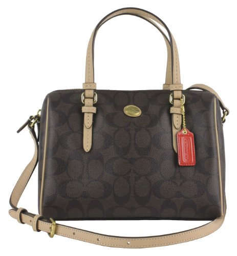 Coach Peyton Signature Bennett Mini Satchel in Brown & Tan – Style 50178
