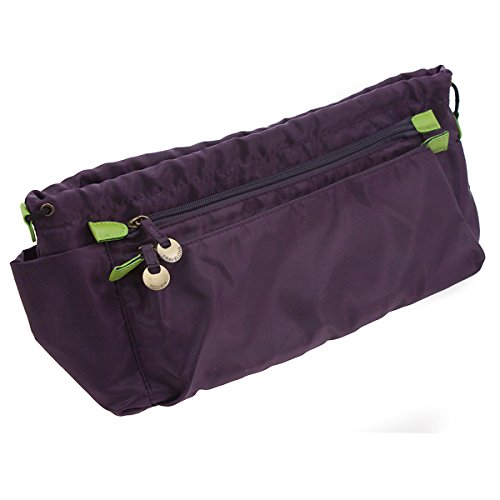 Travelon Purse Insert Organizer Multi-Pocket Purple Handbag Makeup Car Travel