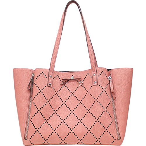 Jessica Simpson Lolita Perforated Tote with Removable Pouch (Rosette)