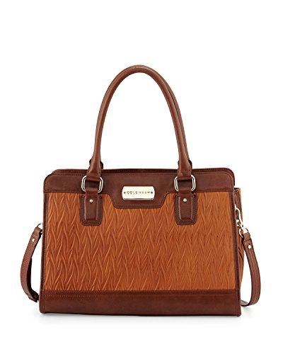 Cole Haan Carrington Leather Satchel Top Handle Bag, Brown/Sequoia, One Size