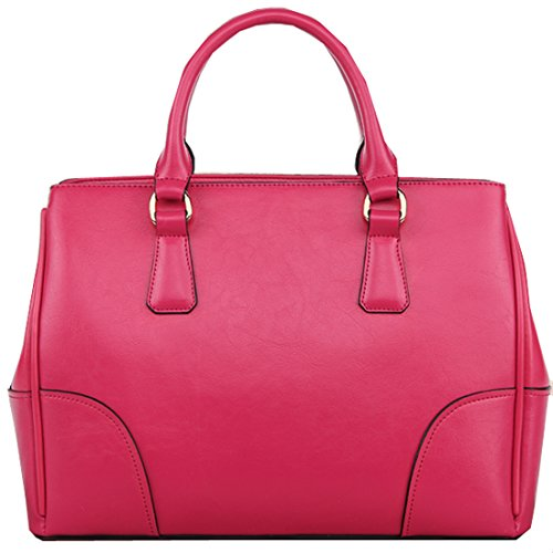 Heshe 2014 New Genuine Leather Leisure Tote Shoulder Bag Satchel Doctor Bag Handbag for Women