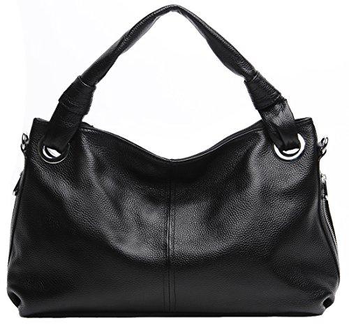 Heshe 2014 Women's Soft Genuine Leather Vintage Cross Body Shoulder Bag Satchel Tote Handbag in Bargain Price