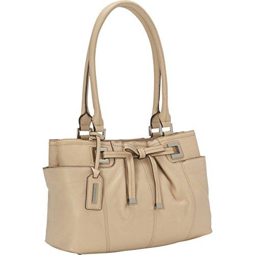 Tignanello All Dressed Up Satchel Handbag (Creme Brulee)