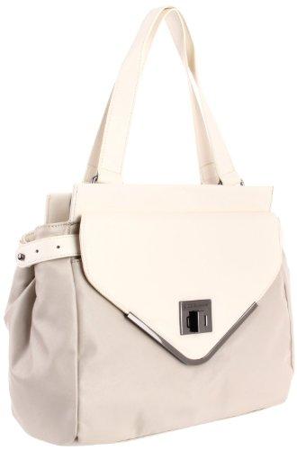 BCBGeneration White & Grey Charlie Satchel Handbag