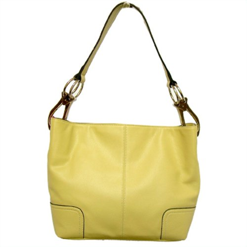 Tosca Classic Medium Shoulder Handbag,Medium,Light Yellow