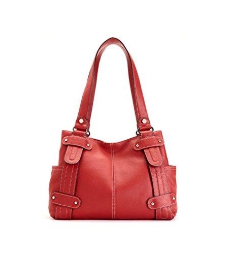 Tignanello Perfect 10 Studded Shopper (Rouge)