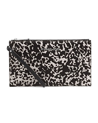 Michael Kors Jet Set Travel Clutch Black Optic White
