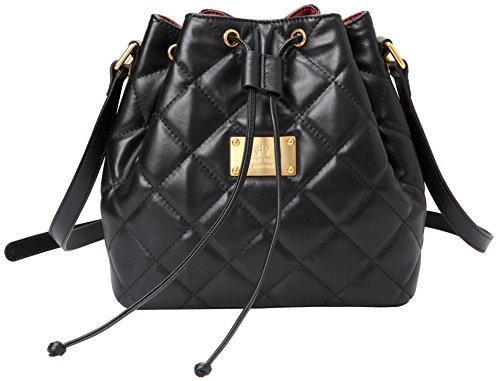 Emini House Women's Diamond Quilted Bucket Shoulder Bag