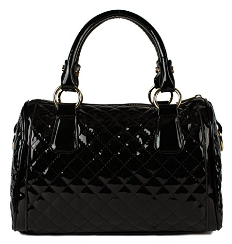Scarleton Quilted Patent Satchel H1064
