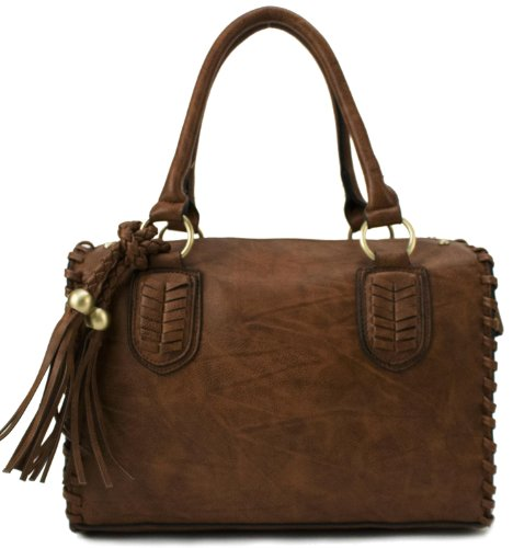 Scarleton Vintage Top Zip Satchel H1113