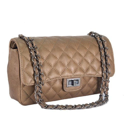 HS 6078 TP DITA Made in Italy Taupe Shoulder Bag