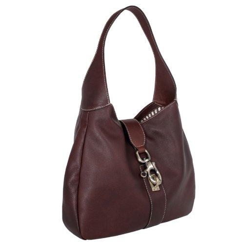 Sabrina Calfskin Leather Shoulder Bag Handbag Made in Italy by Aldo Lorenzi