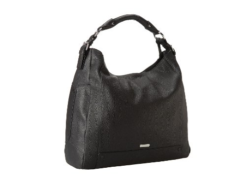 Vince Camuto Large Mikey Pebbled Leather Hobo – Black