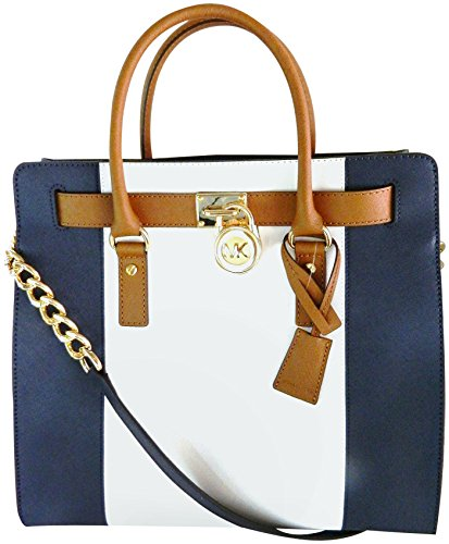 MICHAEL Michael Kors Hamilton Center Stripe Saffiano Leather Large North South Tote