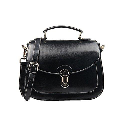 Kattee Retro Oil Leather Satchel Handbag