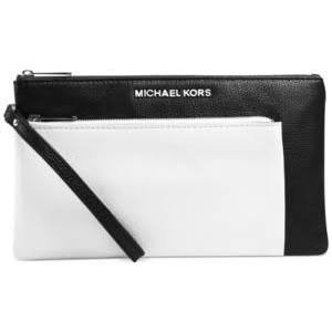 Michael Kors Tippi Large Zip Clutch Black/Optic White