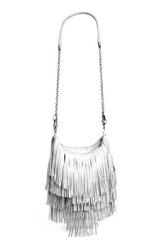 Steve Madden Handbag Bmocha Fringe Crossbody Bag White