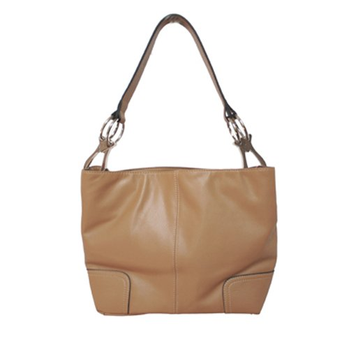 Tosca Classic Medium Shoulder Handbag,Medium,Light Brown
