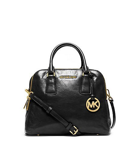 Michael Kors Alexis Medium Satchel Black Leather