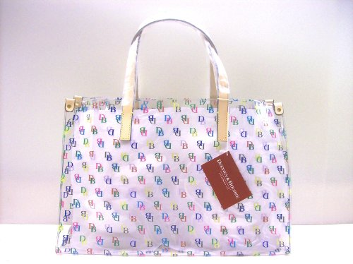 Dooney Bourke Clear IT Large Shopper Beach Bag Purse Tote