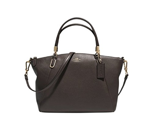Coach Madison Small Kelsey Satchel In Leather – Dark Brown