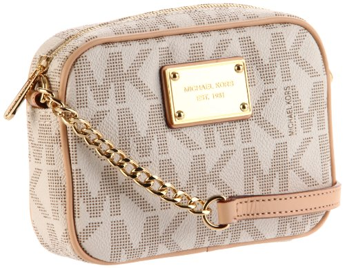 Michael Kors Jet Set Item MK Signature Cross-body Bag in PVC