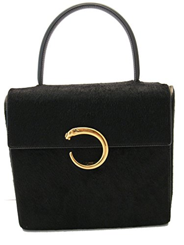 CARTIER® PANTHERE® FUR Classic Evening Handbag. BLACK COLOR. Made in FRANCE