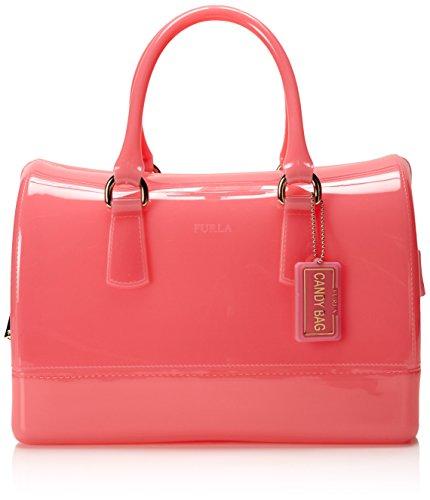 FURLA Candy M Satchel Top Handle Bag,Rose,One Size