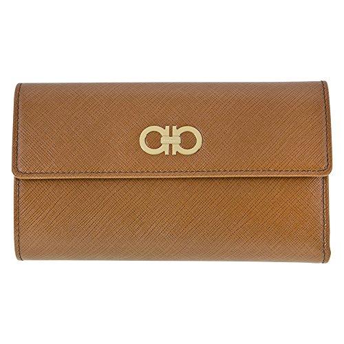 Ferragamo Leather Clutch Bag – Brown