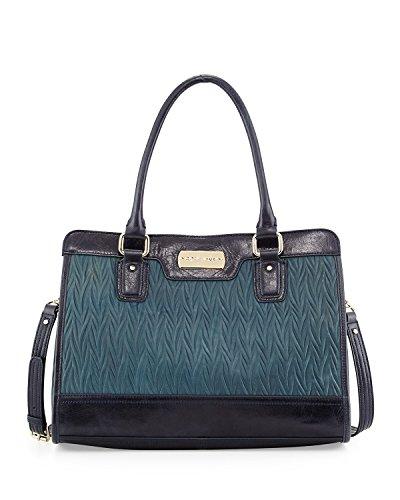Cole Haan Carrington Leather Satchel Top Handle Bag, Blazer Blue, One Size