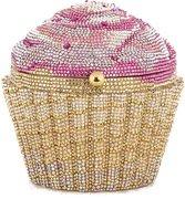 Judith Leiber Cupcake Handbag Minaudiere Clutch