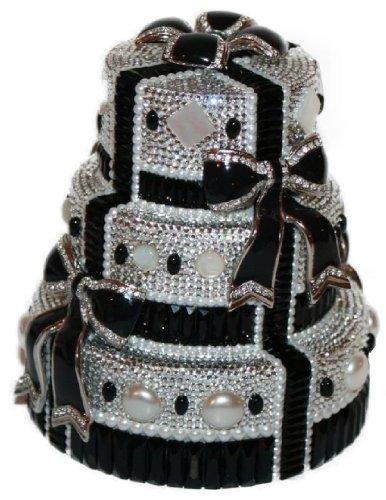 Judith Leiber Crystal Tuxedo Cake Clutch Handbag Minaudiere