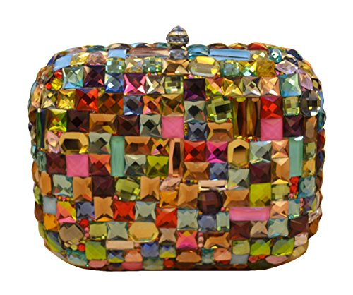 Deluxe Muse Women's Clutch Evening Bags Multicolor