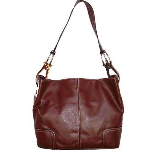 Tosca Classic Medium Shoulder Handbag,Medium,Coffee Brown