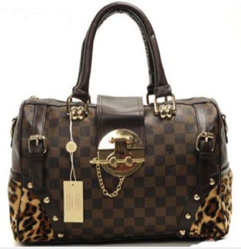 Bushels Handbags Leopard Handbags Inspired Pu Leather Women's Bags