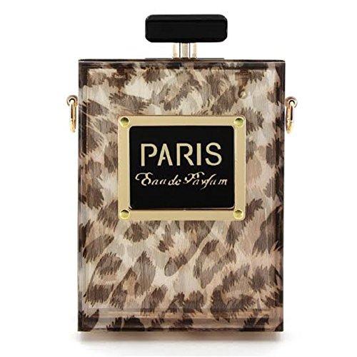 2Chique Boutique Women's Animal Print Perfume Bottle Style Evening Bag