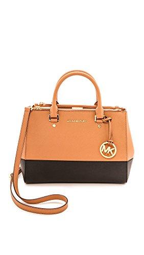 Michael Kors Sutton Medium Satchel Saffiano Leather Handbag