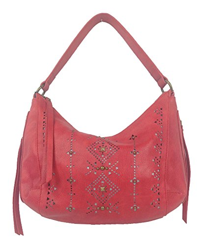 Lucky Brand Newport Perforated Hobo Bag, Red
