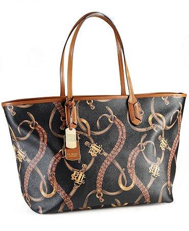 Lauren Ralph Lauren Handbag Caldwell Belting Classic Tote