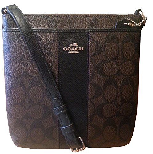 Coach Signature Peyton North South Swingpack in Brown