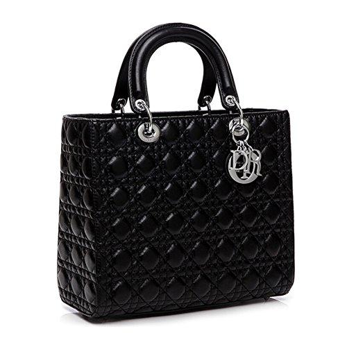 Kattee 100% Lamskin Genuine Leather Designer Handbag with Shoulder Strap