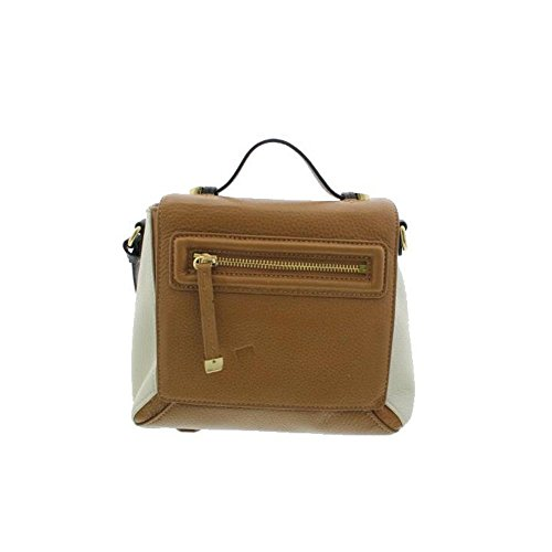 Halston Heritage Womens Leather Colorblock Crossbody Handbag