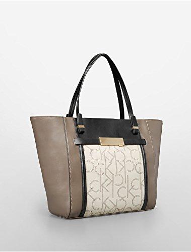 Calvin Klein Addie Traveler Tote Handbag (Granite)