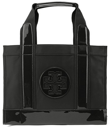 Tory Burch Nylon Tory Tote Black Logo Handbag