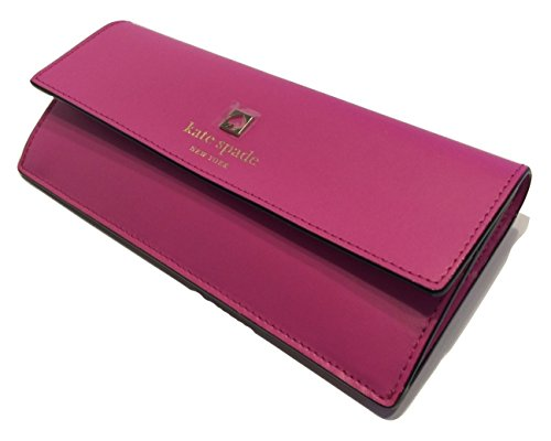 Kate Spade Sawyer Street Amelia Clutch Wallet Snapdragon Pink Leather WLRU2006