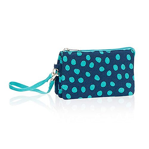 Thirty One Vary You Wristlet in Navy Lotsa Dots – No Monogram – 4241