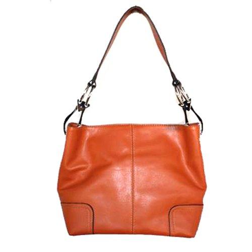 Tosca Classic Medium Shoulder Handbag,Medium,Bright Orange
